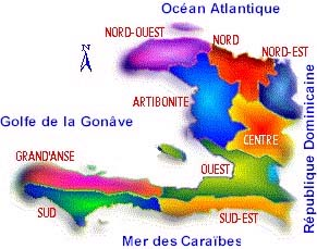 Carte Haiti Departements.Encyclopedie De L Agora Haiti