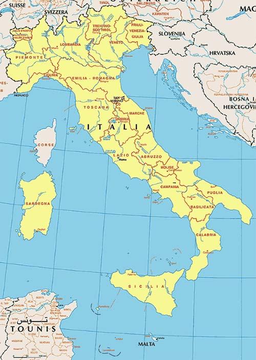Carte Italie Du Centre.Encyclopedie De L Agora Italie