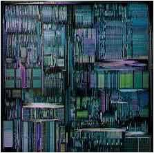 Transistors d'un microprocesseur