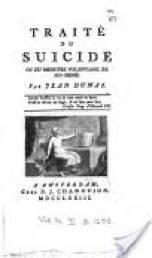 Dumas Jean Traité du suicide