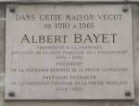 plaque Bayet Albert